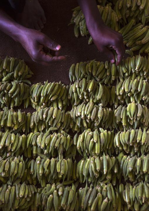 Sudan, Khartoum State, Omdurman, vegetables on a market