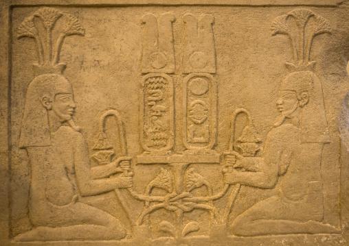 Sudan, Khartoum State, Khartoum, relief at the national museum of sudan