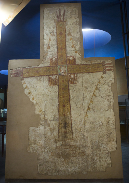 Sudan, Khartoum State, Khartoum, late 10th century cross from the cathedral of faras in the national museum of sudan