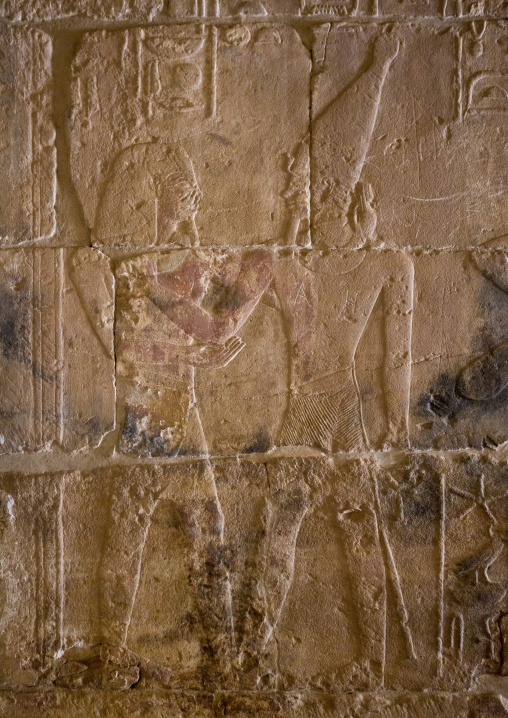 Sudan, Khartoum State, Khartoum, relief in the semna temple at the national museum of sudan