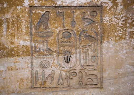 Sudan, Khartoum State, Khartoum, buhen temple hieroglyphs in the the national museum of sudan