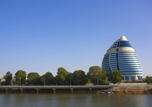 Sudan, Khartoum State, Khartoum, corinthia hotel on river nile