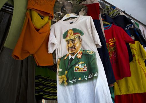 Sudan, Northern Province, Dongola, omar el-bechir tshirt