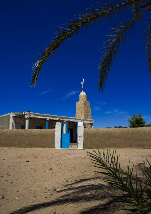 Sudan, Northern Province, Gunfal, mosque in a little village