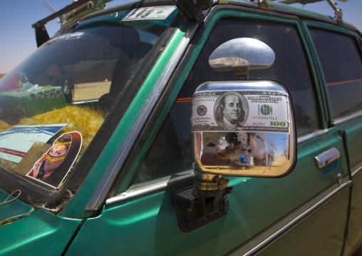 Sudan, Northern Province, Delgo, decorated car