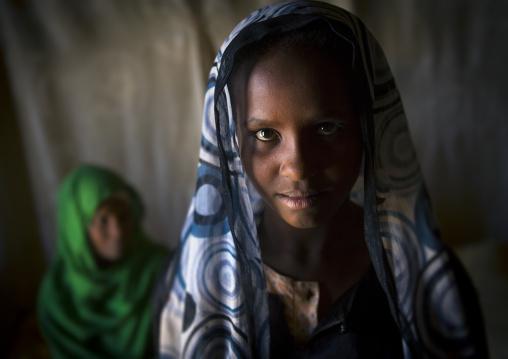 Sudan, Kush, Bagrawiyah, nubian girl with her grand mother