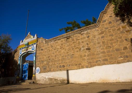 Sudan, River Nile, Al-Khandaq, old ottoman house