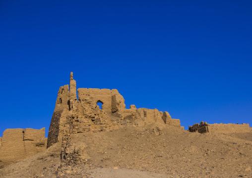 Sudan, River Nile, Al-Khandaq, old ottoman fort
