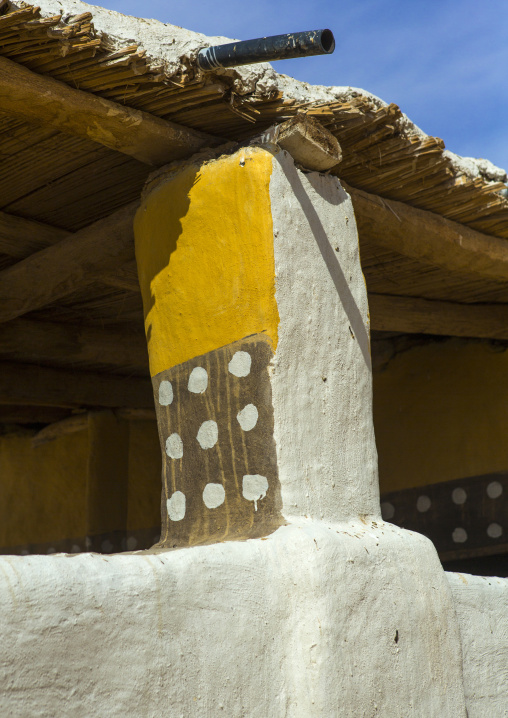 Sudan, Nubia, Old Dongola, house courtyard