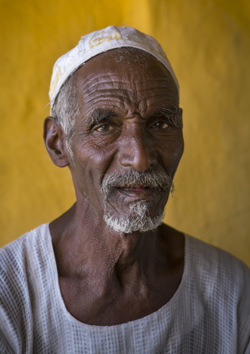 Sudan, Nubia, Old Dongola, old sudanese man