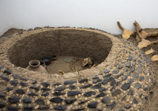 Sudan, Northern Province, Kerma, tomb in kerma museum
