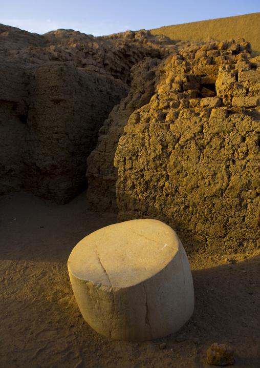 Sudan, Northern Province, Kerma, column in the the western deffufa