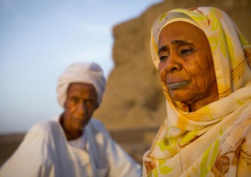 Sudan, Northern Province, Kerma, old sudanese couple