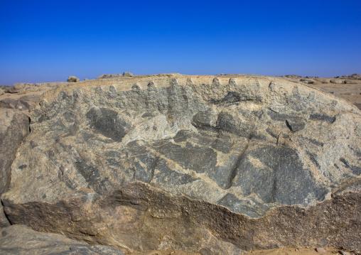 Sudan, Nubia, Tumbus, quarry in an arid area