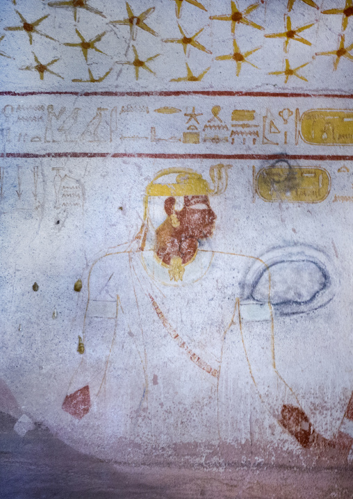 Sudan, Fourth Cataract, El Kurru, burial chamber ceiling of the tomb of tanutamani
