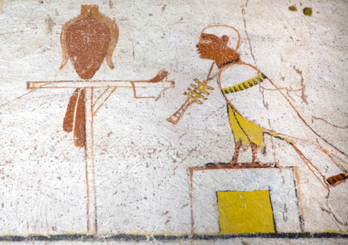 Sudan, Fourth Cataract, El Kurru, burial chamber of the tomb of tanutamani