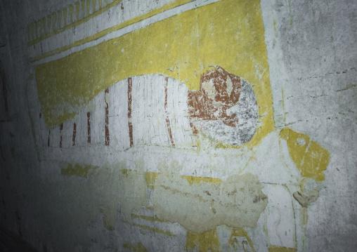 Sudan, Fourth Cataract, El Kurru, osiris mummy painting in the the tomb of qalhata