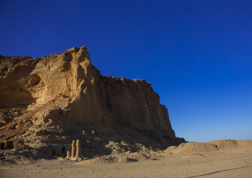 Sudan, Northern Province, Karima, temple of amun in the holy mountain of jebel barkal