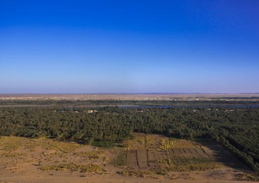 Sudan, Northern Province, Karima, karima town and river nile view