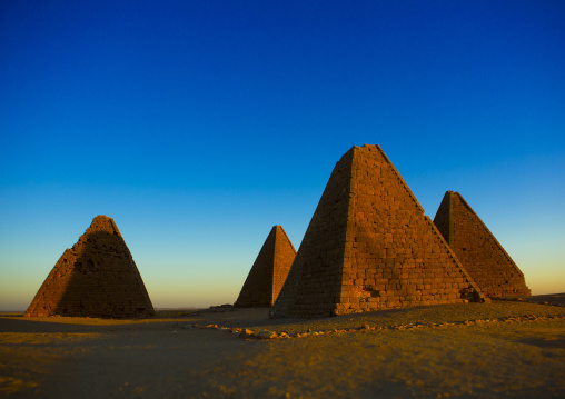 Sudan, Northern Province, Karima, the pyramids at jebel barkal, used by napatan kings