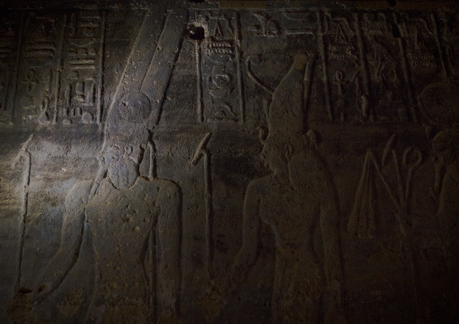 Sudan, Northern Province, Karima, mammisi chapel of the temple of amun at the foot of jebel barkal