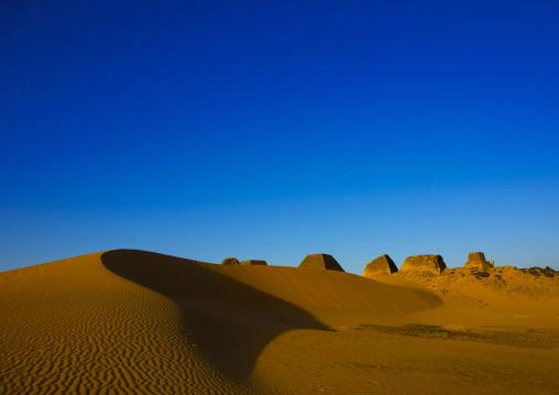 Sudan, Kush, Meroe, pyramids in royal cemetery