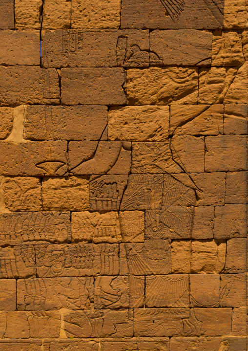 Sudan, Nubia, Naga, the relief of queen amanitore