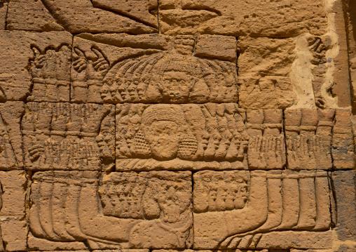 Sudan, Nubia, Naga, relief of queen amanitare