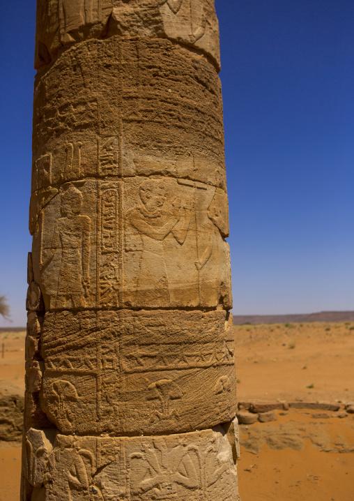 Sudan, Nubia, Naga, amun temple columns
