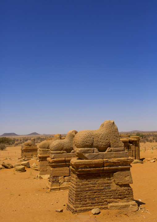 Sudan, Nubia, Naga, amun temple rams