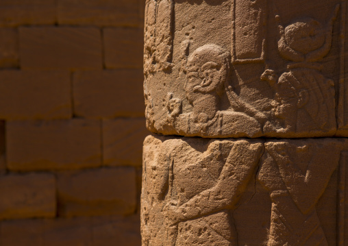 Sudan, Nubia, Naga, column in naga site