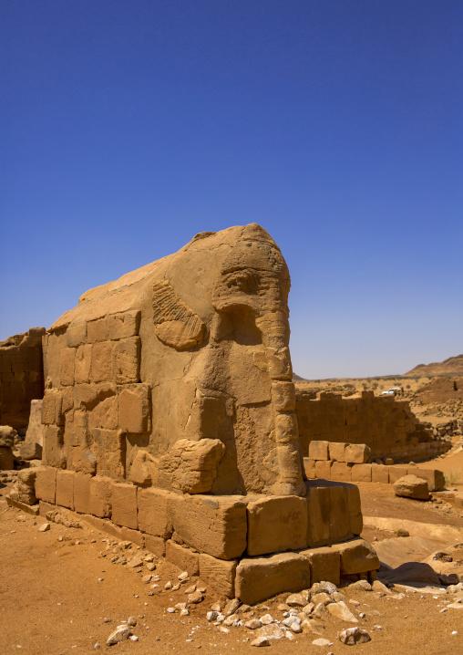 Sudan, Khartoum State, Musawwarat es-Sufra, the elephant temple at musawwarat es-sufra