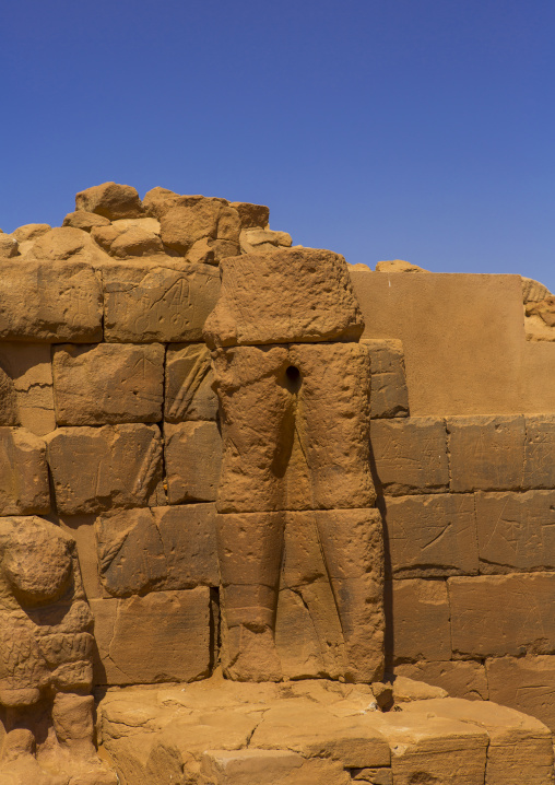Sudan, Nubia, Naga, ruins of the central temple