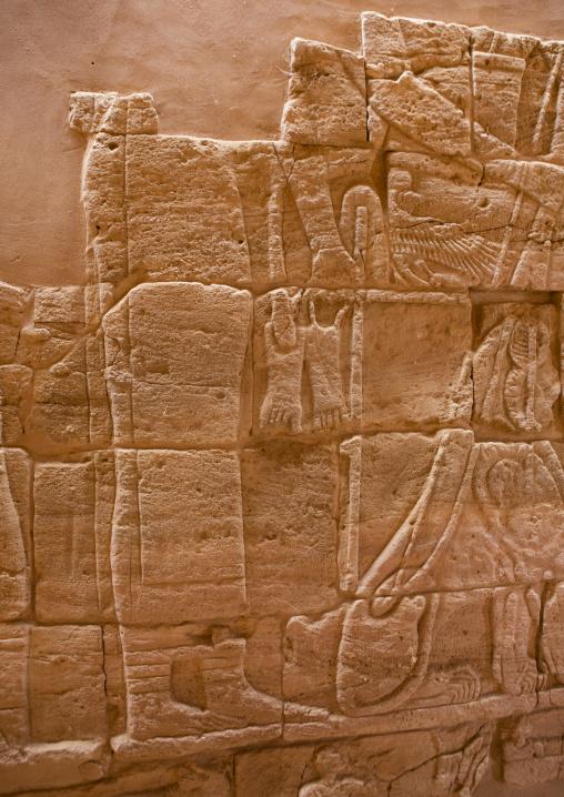 Sudan, Nubia, Naga, interior of the lion temple in musawwarat es-sufra
