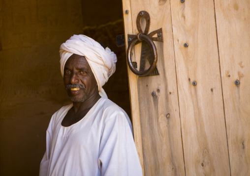 Sudan, Nubia, Naga, the restored lion temple in musawwarat es-sufra