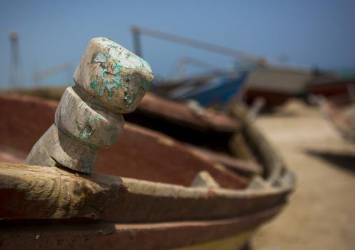 Sudan, Red Sea State, Port Sudan, fishing boat detail