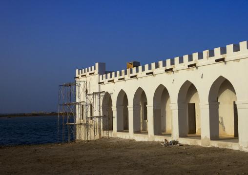 Sudan, Port Sudan, Suakin, renovated building