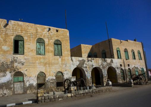 Sudan, Port Sudan, Suakin, old building on mainland