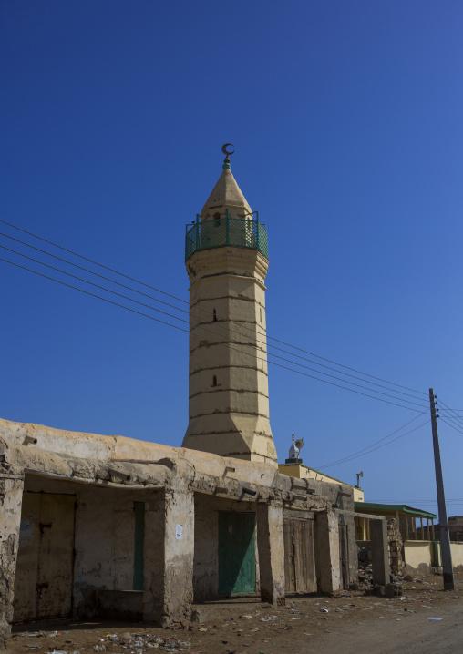 Sudan, Port Sudan, Suakin, mosque on mainland el-geyf