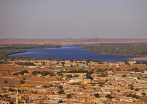 Sudan, Northern Province, Karima, karima town and river nile view