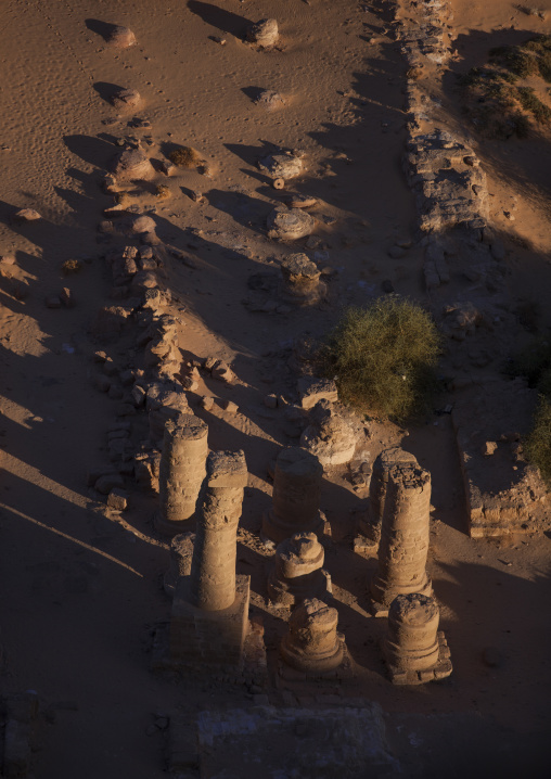 Sudan, Northern Province, Karima, view from the top of the jebel barkal of the main amun temple