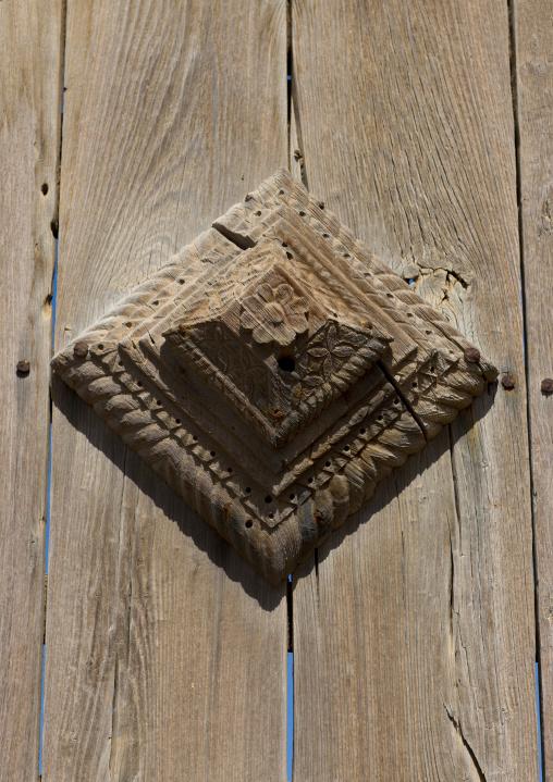 Sudan, Port Sudan, Suakin, wooden door decoration