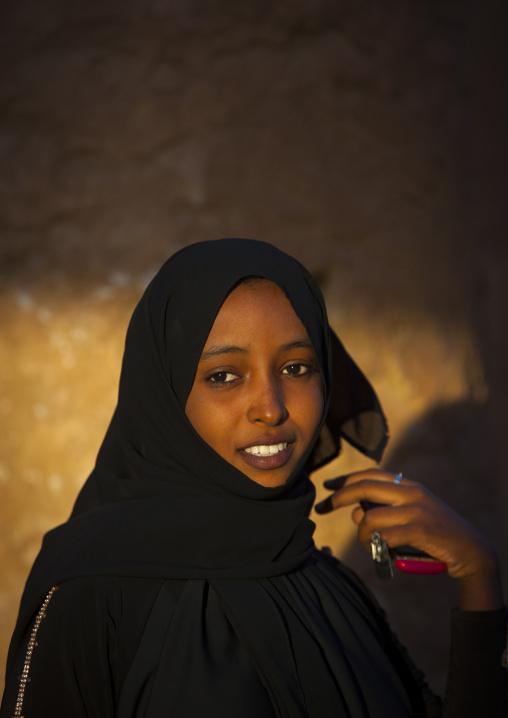 Sudan, Kassala State, Kassala, young sudanese woman