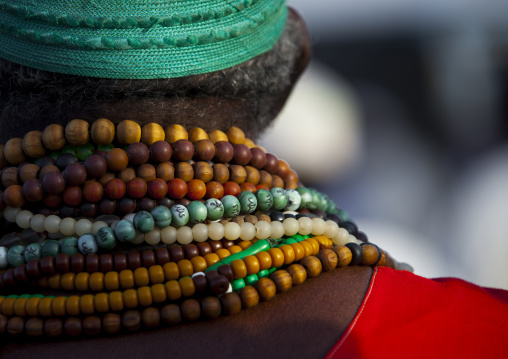 Sudan, Khartoum State, Khartoum, sufi whirling dervish beads at omdurman sheikh hamad el nil tomb