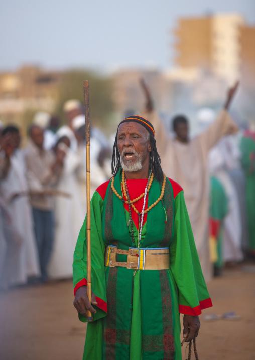 Sudan, Khartoum State, Khartoum, sufi whirling dervishes at omdurman sheikh hamad el nil tomb