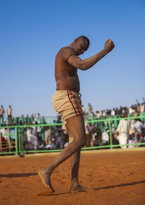 Sudan, Khartoum State, Khartoum, nuba wrestler