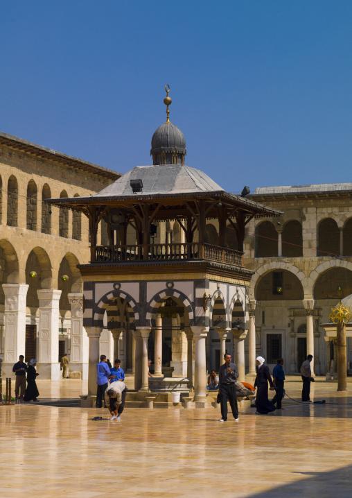 Umayyad Mosque courtyard. Damascus, Syria