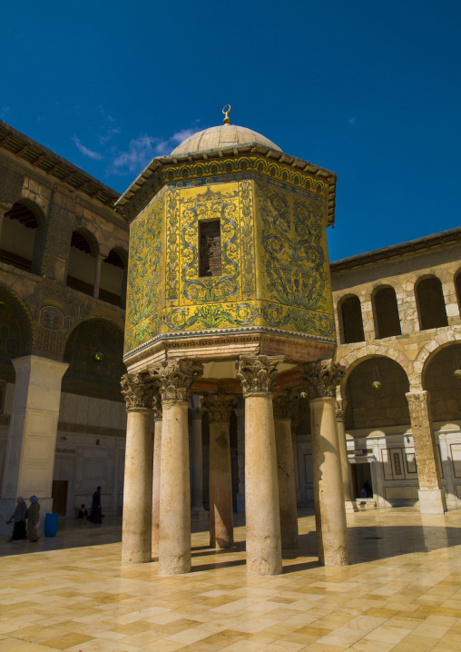 The Dome of the Treasury In Umayyad Mosque courtyard, Damascus, Syria