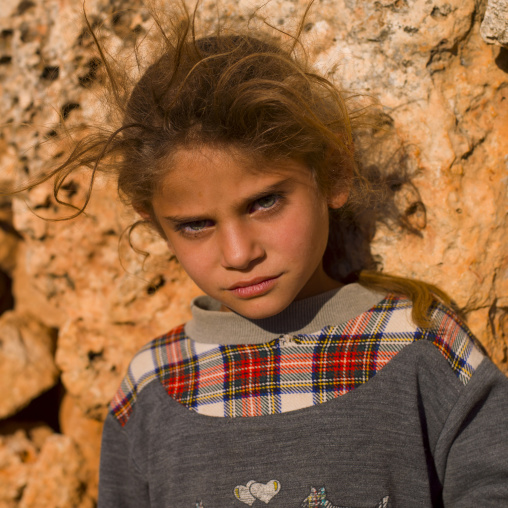 Blonde Girl In Dead City Of Serjilla, Syria