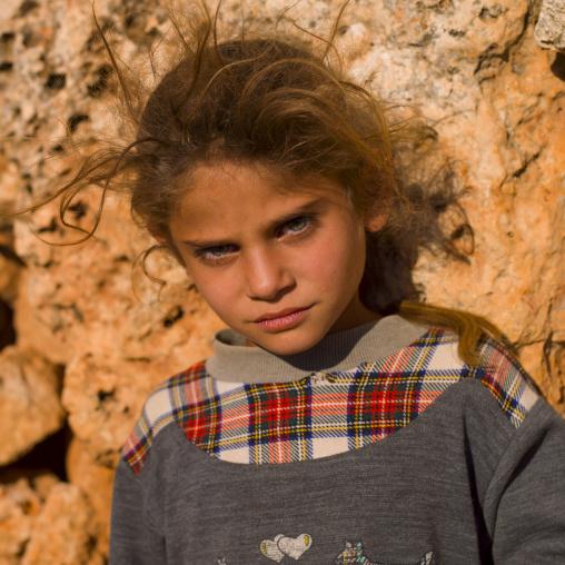 Blonde Girl In Dead City, Serjilla, Idlib Governorate, Syria